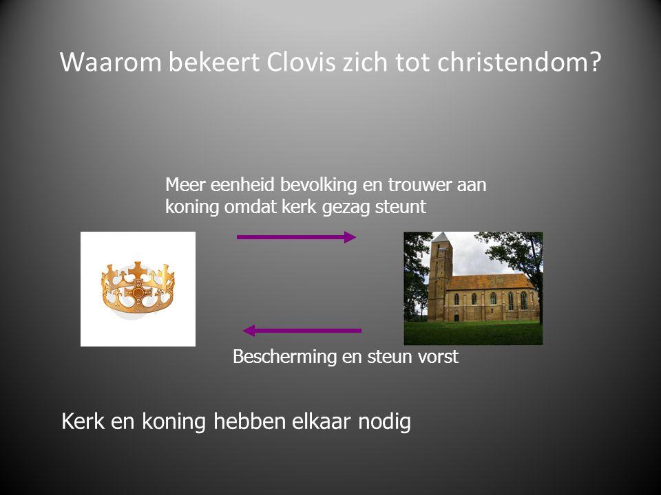 Waarom bekeert Clovis zich tot christendom