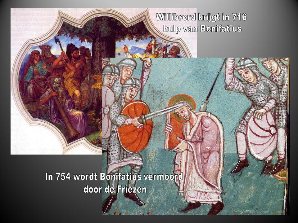 In 754 wordt Bonifatius vermoord