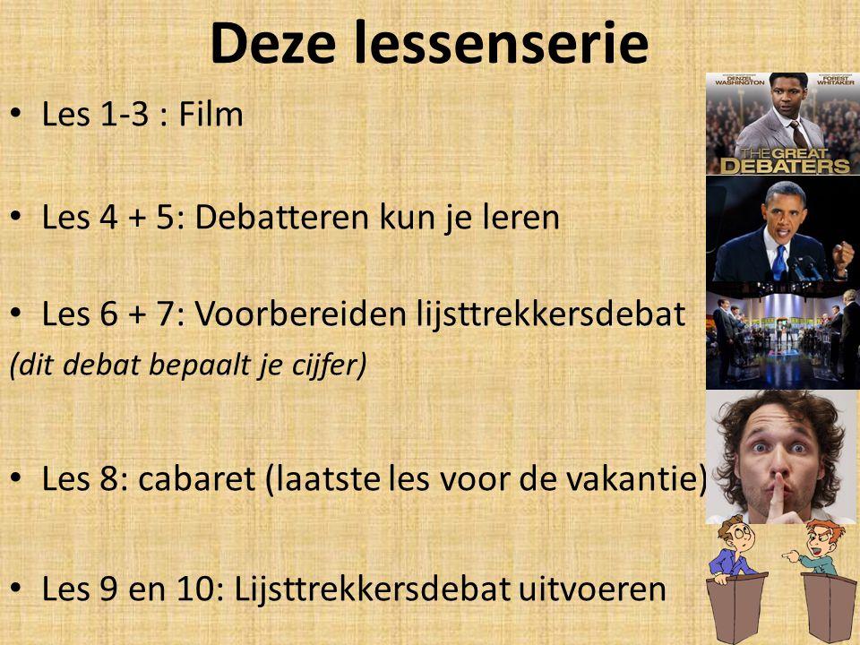 Deze lessenserie Les 1-3 : Film Les 4 + 5: Debatteren kun je leren