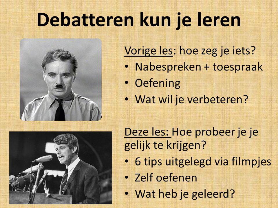 Debatteren kun je leren