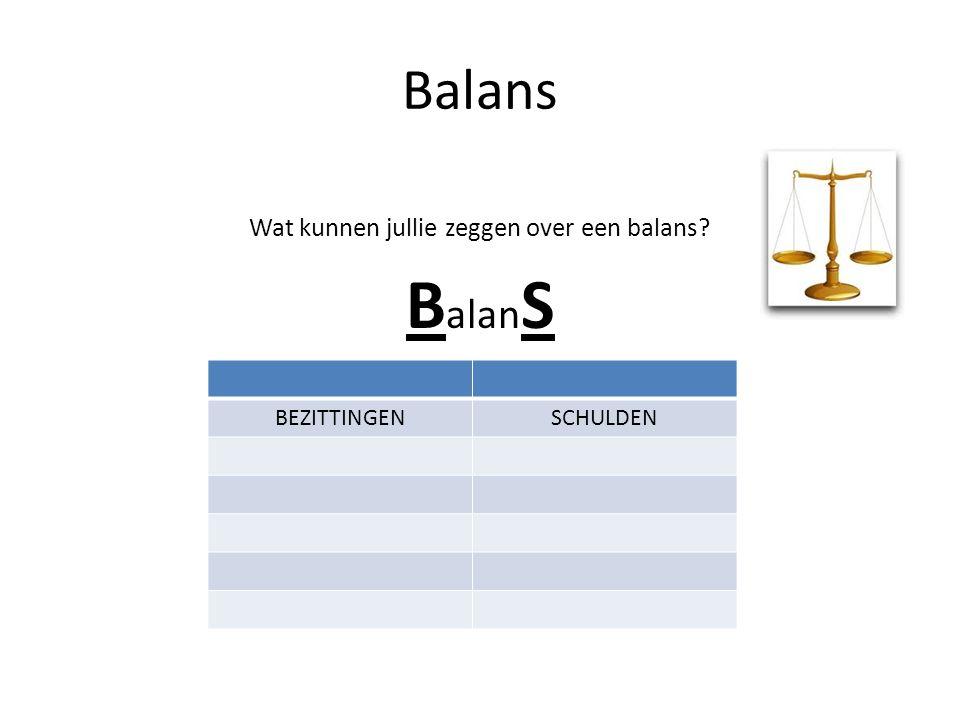 Wat kunnen jullie zeggen over een balans
