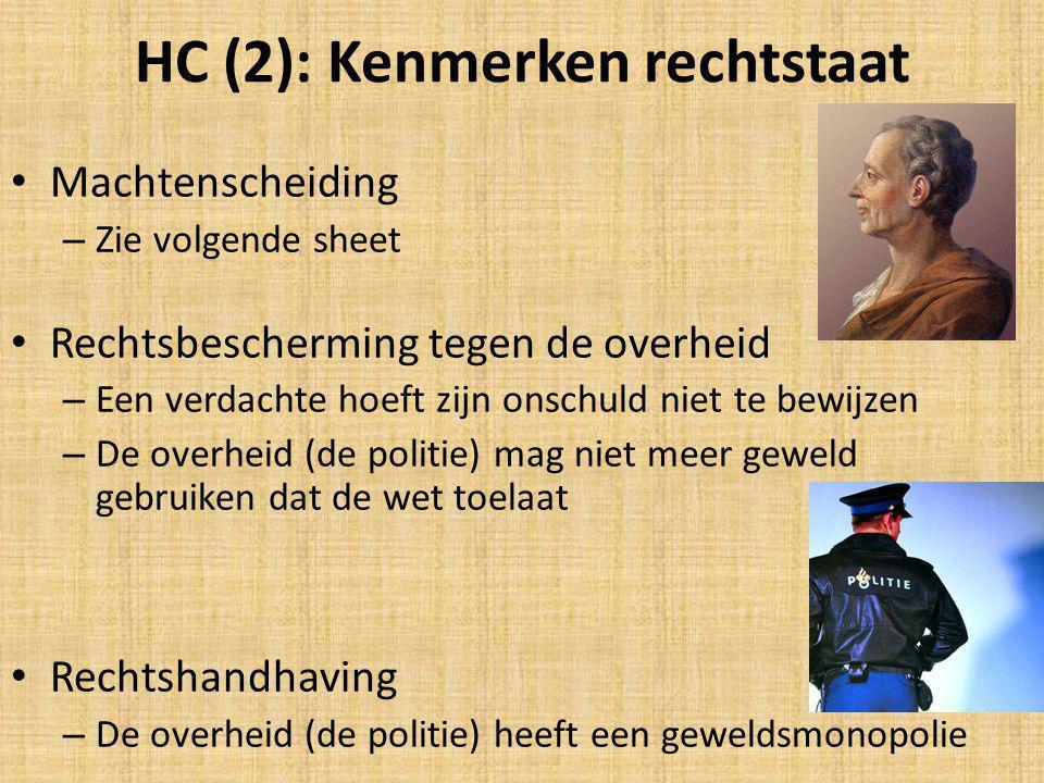 HC (2): Kenmerken rechtstaat