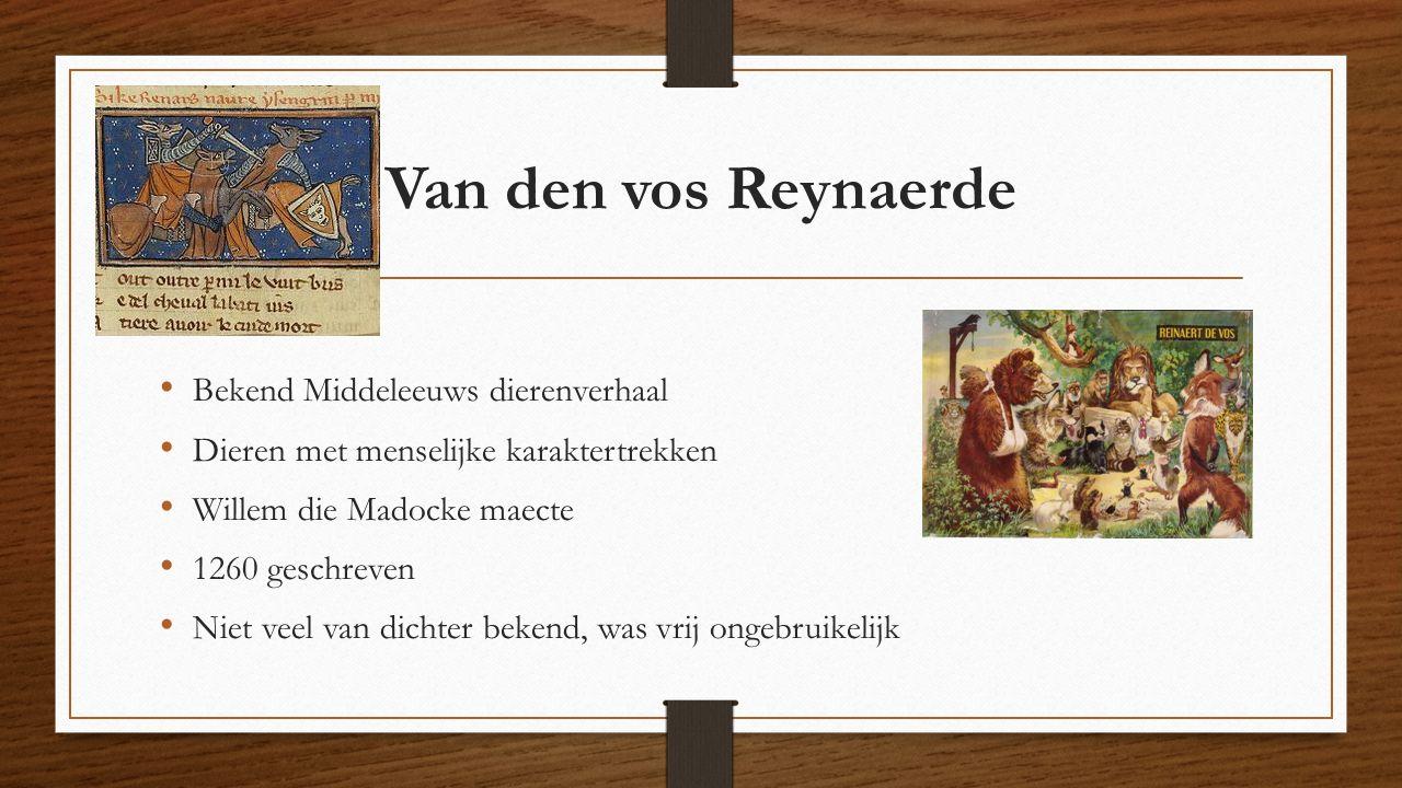 Van den vos Reynaerde Bekend Middeleeuws dierenverhaal
