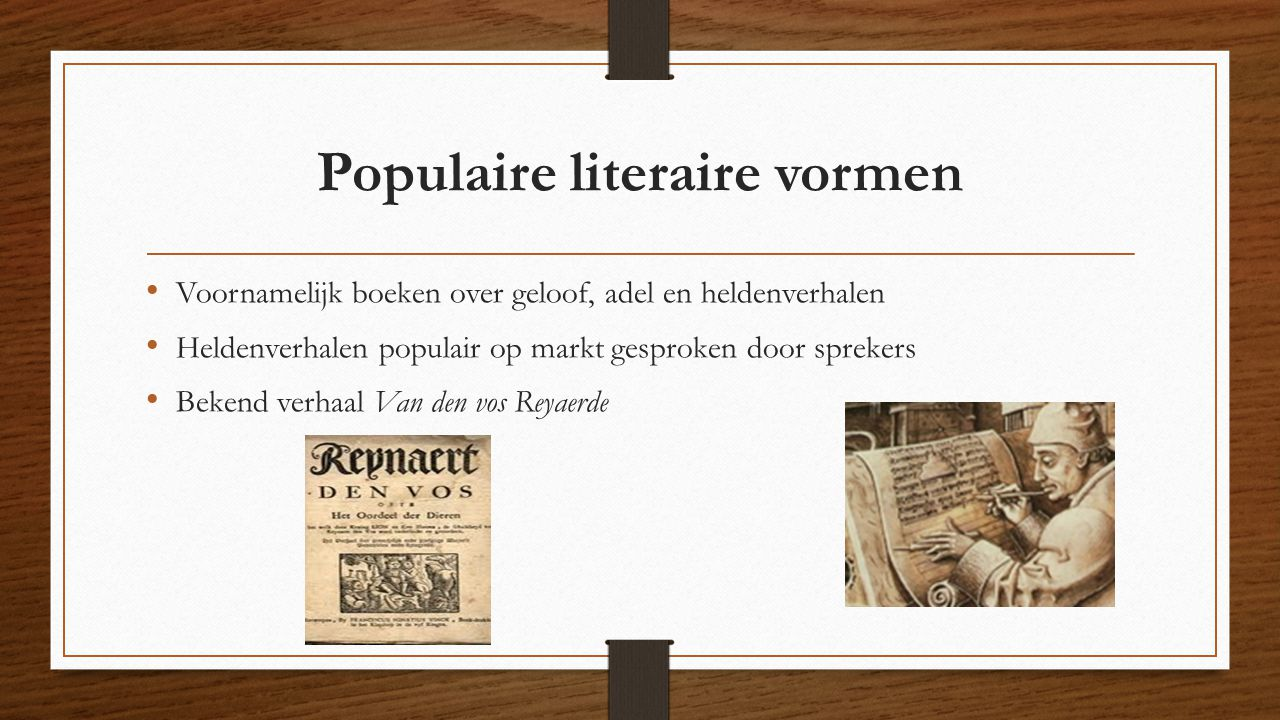 Populaire literaire vormen