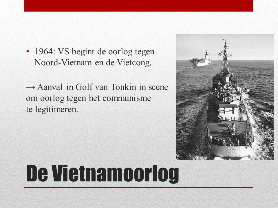 1964: VS begint de oorlog tegen Noord-Vietnam en de Vietcong.