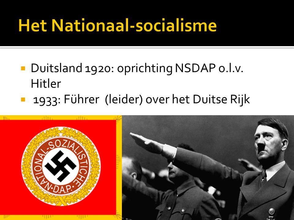 Het Nationaal-socialisme
