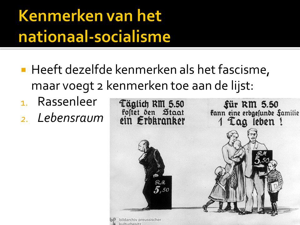 Kenmerken van het nationaal-socialisme
