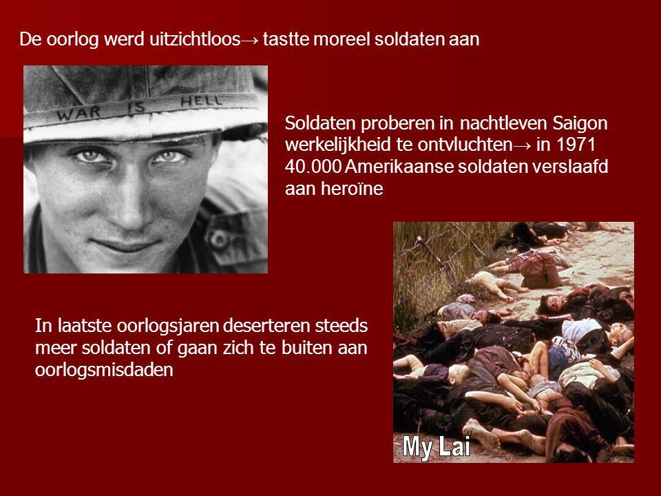 De oorlog werd uitzichtloos→ tastte moreel soldaten aan