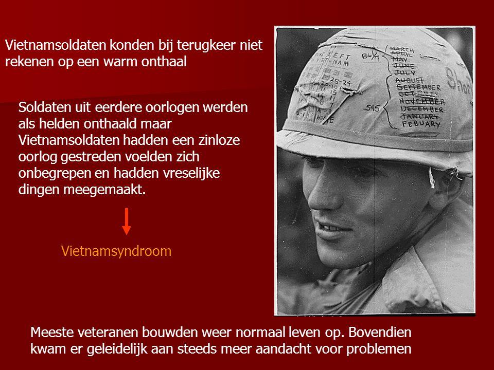Vietnamsoldaten konden bij terugkeer niet rekenen op een warm onthaal