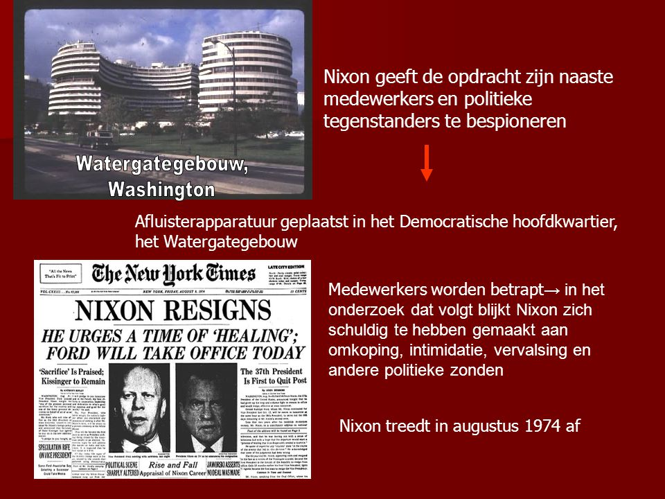 Nixon geeft de opdracht zijn naaste medewerkers en politieke tegenstanders te bespioneren