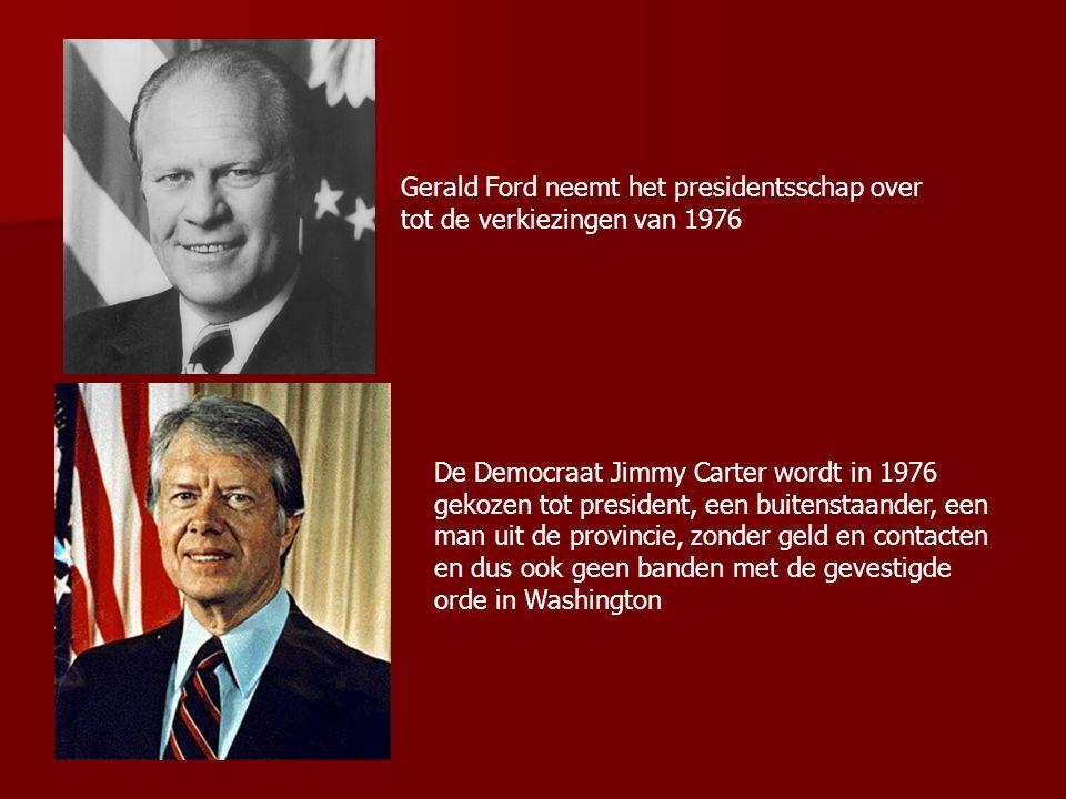 Gerald Ford neemt het presidentsschap over tot de verkiezingen van 1976
