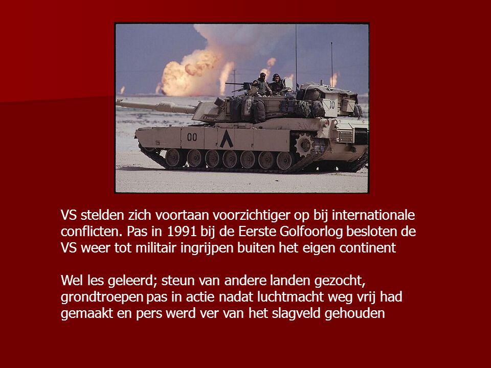 VS stelden zich voortaan voorzichtiger op bij internationale conflicten. Pas in 1991 bij de Eerste Golfoorlog besloten de VS weer tot militair ingrijpen buiten het eigen continent