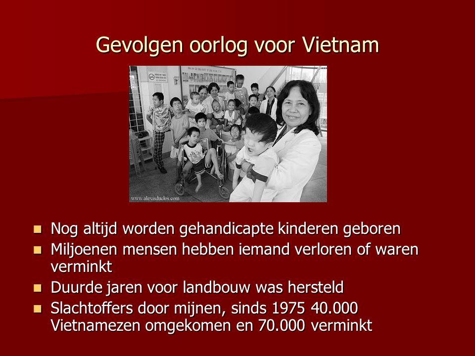 Gevolgen oorlog voor Vietnam