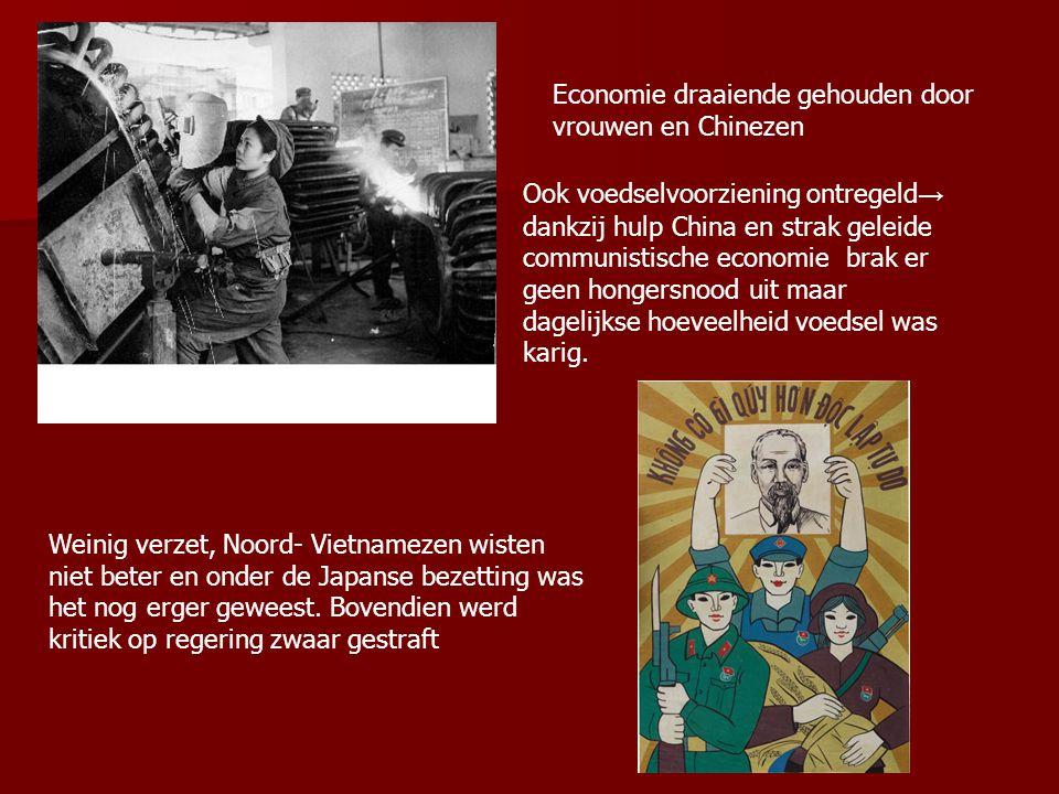 Economie draaiende gehouden door vrouwen en Chinezen