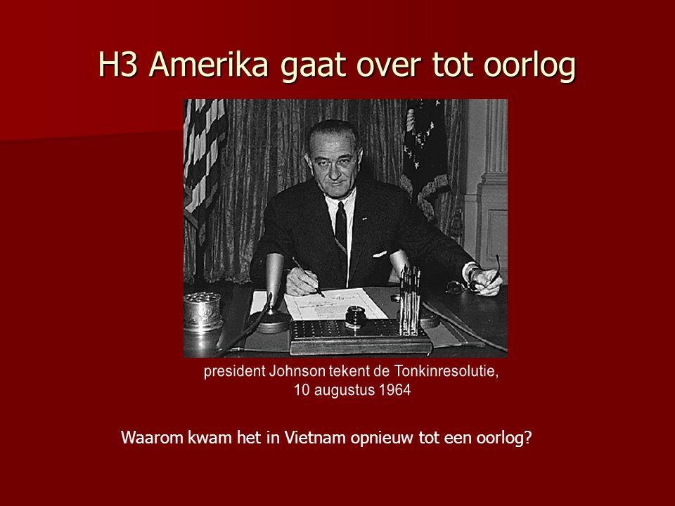 H3 Amerika gaat over tot oorlog