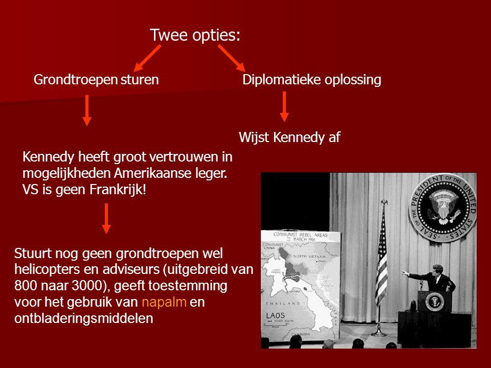 Twee opties: Grondtroepen sturen Diplomatieke oplossing