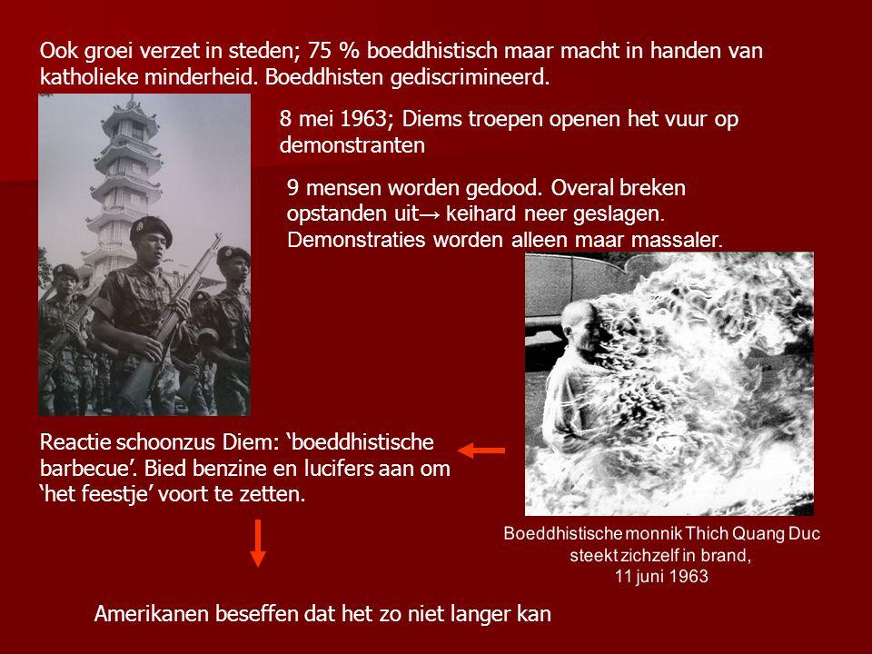 8 mei 1963; Diems troepen openen het vuur op demonstranten