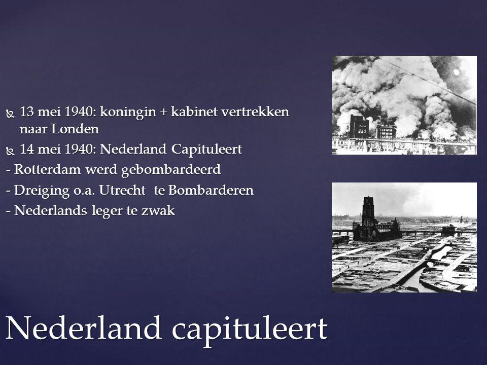 Nederland capituleert