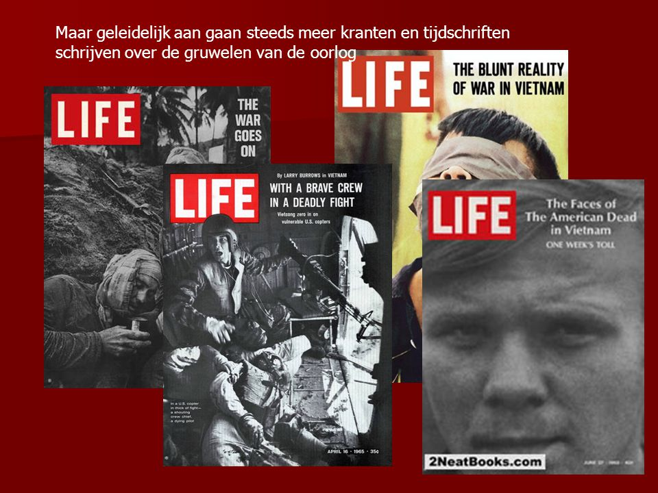Maar geleidelijk aan gaan steeds meer kranten en tijdschriften schrijven over de gruwelen van de oorlog