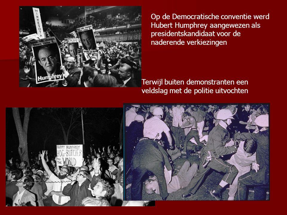 Op de Democratische conventie werd Hubert Humphrey aangewezen als presidentskandidaat voor de naderende verkiezingen