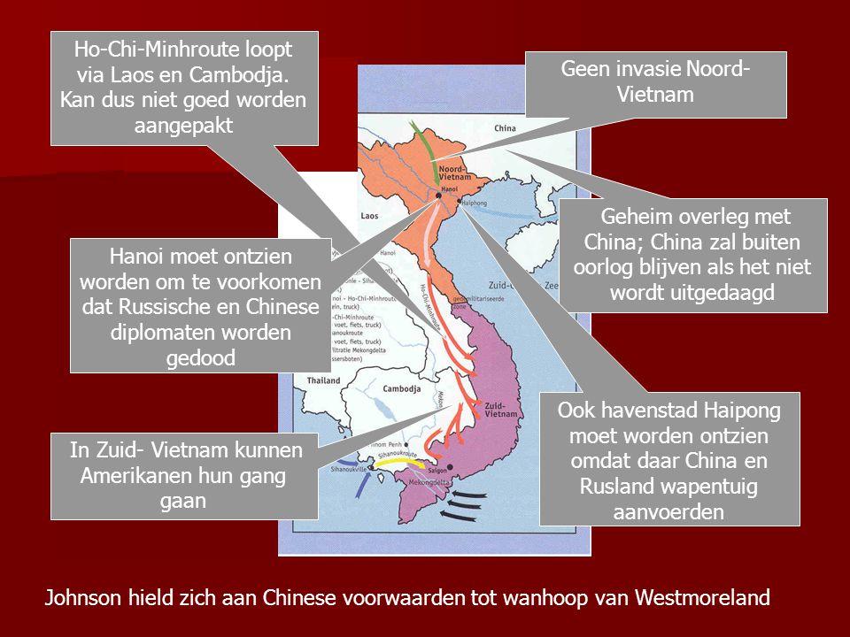 Geen invasie Noord- Vietnam