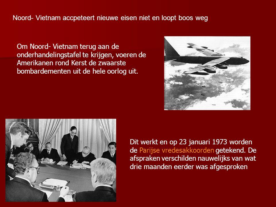 Noord- Vietnam accpeteert nieuwe eisen niet en loopt boos weg