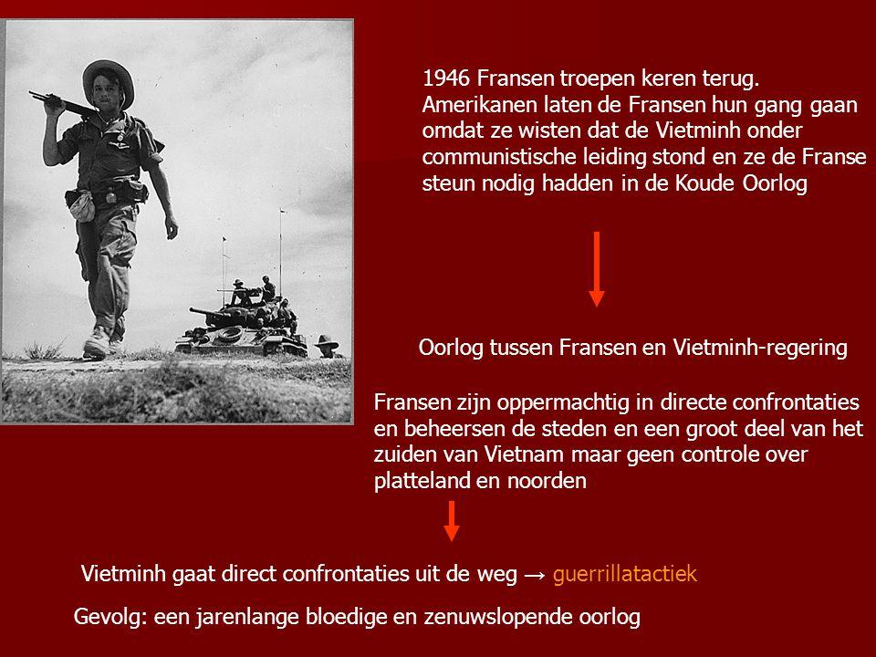 1946 Fransen troepen keren terug