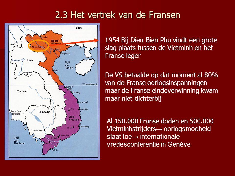 2.3 Het vertrek van de Fransen