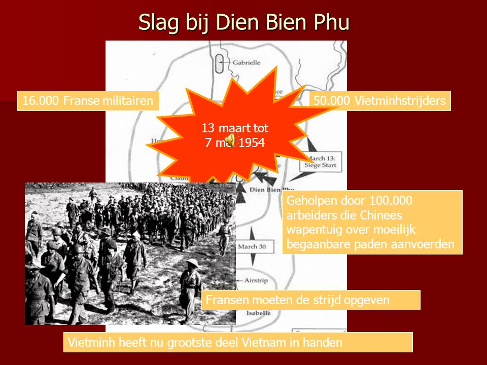 Slag bij Dien Bien Phu 13 maart tot 7 mei 1954