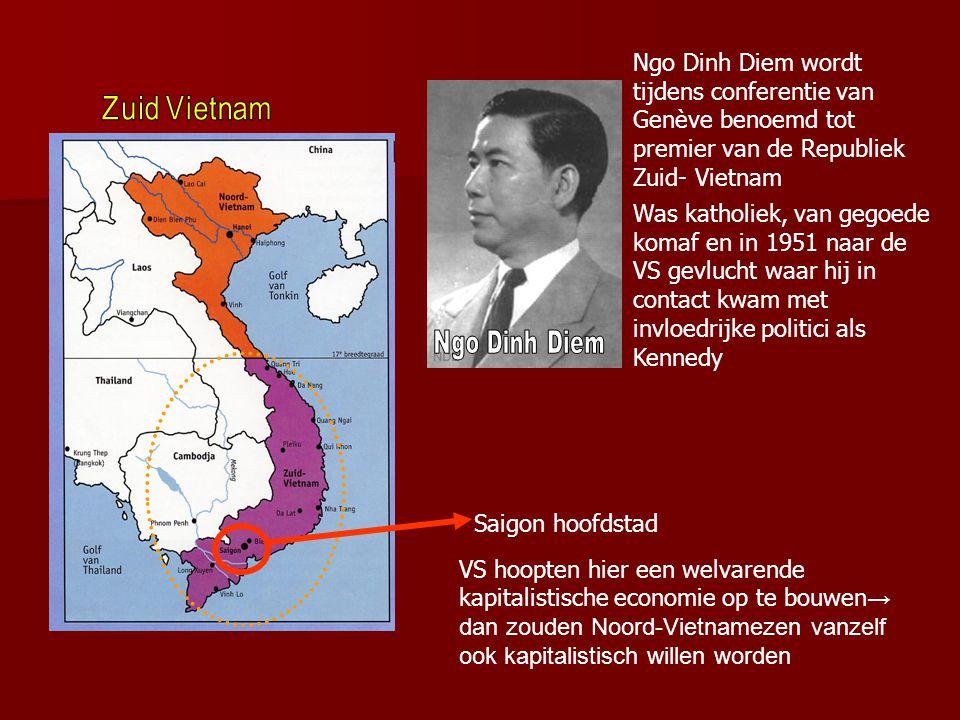 Ngo Dinh Diem wordt tijdens conferentie van Genève benoemd tot premier van de Republiek Zuid- Vietnam