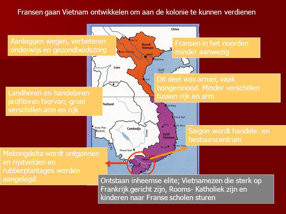 Fransen gaan Vietnam ontwikkelen om aan de kolonie te kunnen verdienen
