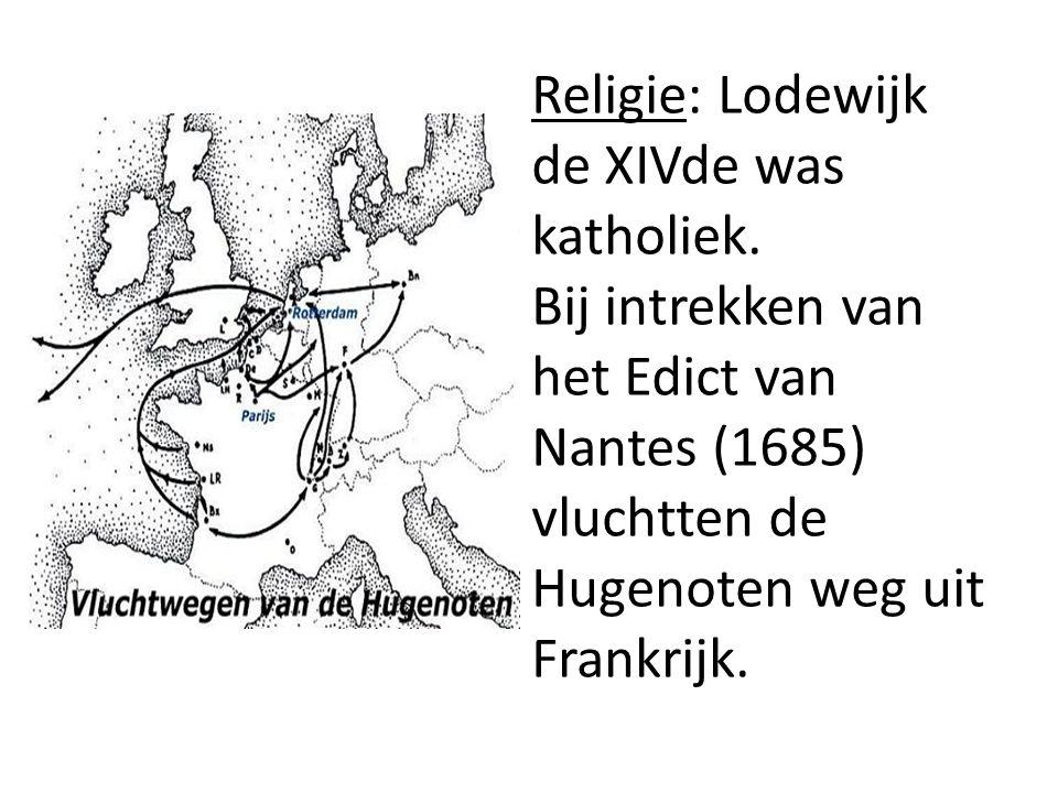 Religie: Lodewijk de XIVde was katholiek