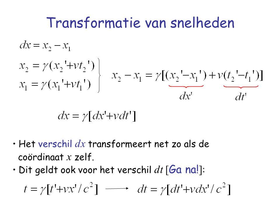 Transformatie van snelheden
