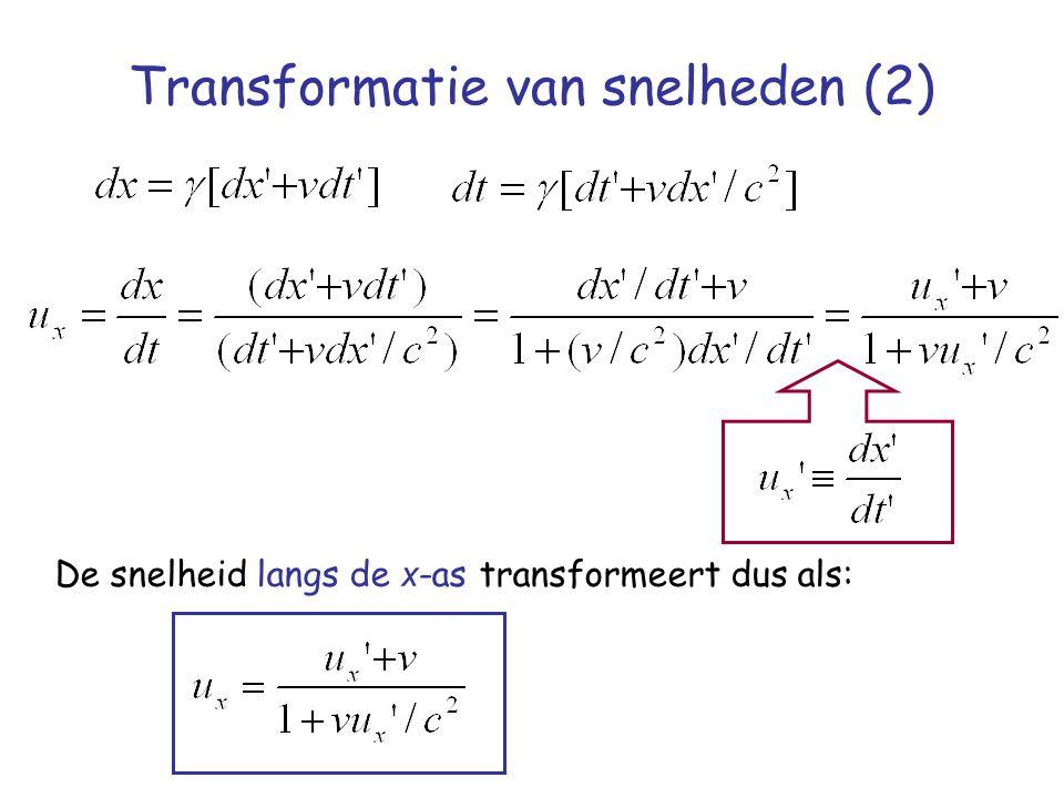 Transformatie van snelheden (2)