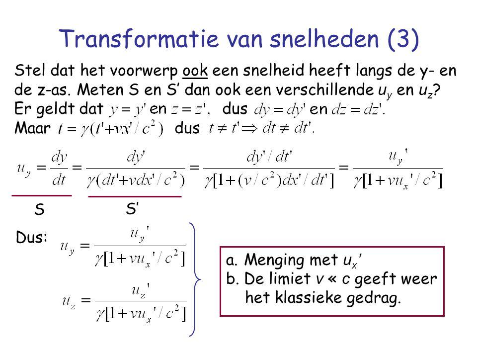 Transformatie van snelheden (3)