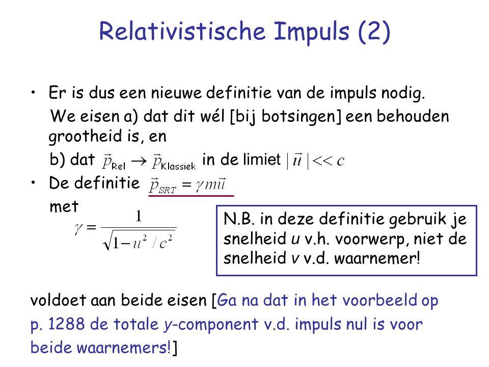 Relativistische Impuls (2)