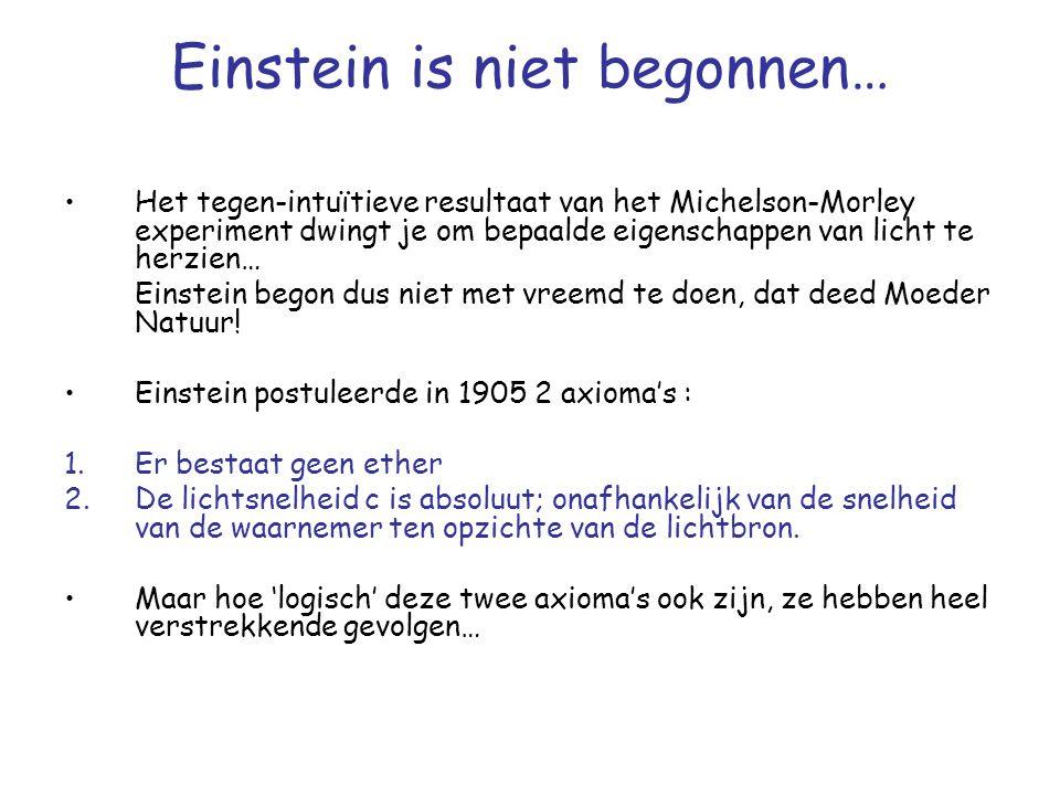 Einstein is niet begonnen…