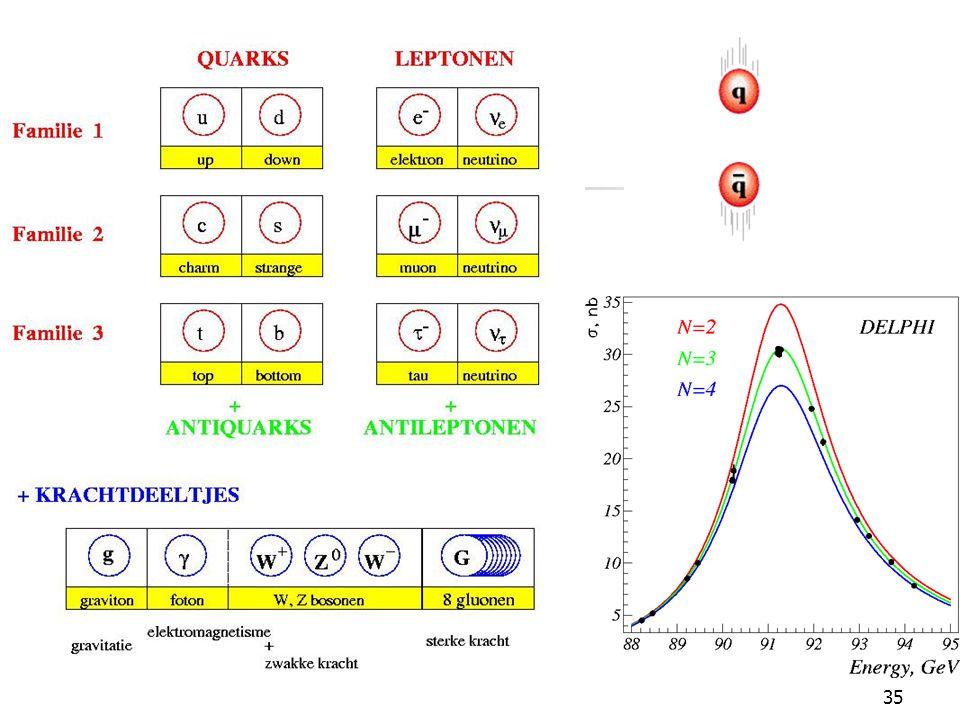 Standaard model 3 deeltjesfamilies 4 fundamentele krachten