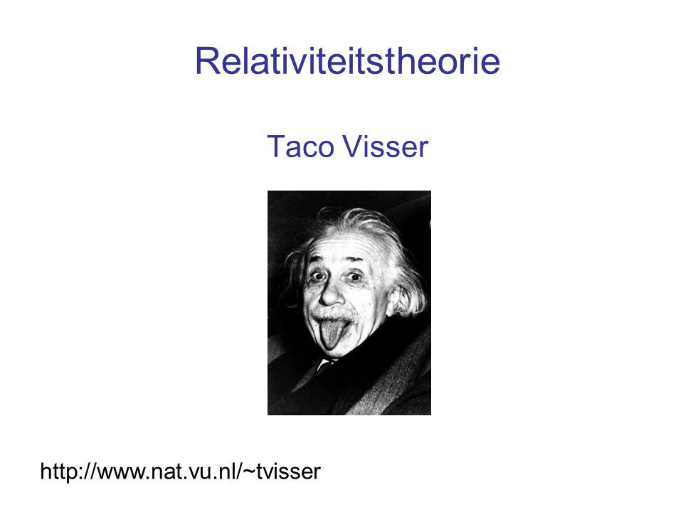 Relativiteitstheorie Taco Visser