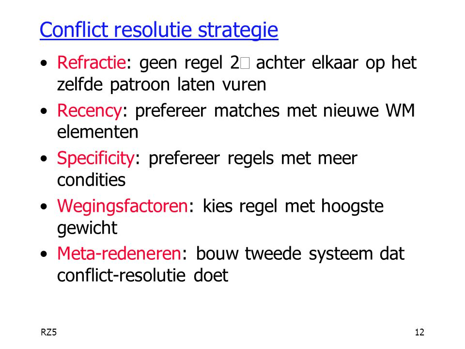 Conflict resolutie strategie