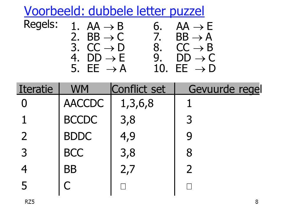 Voorbeeld: dubbele letter puzzel