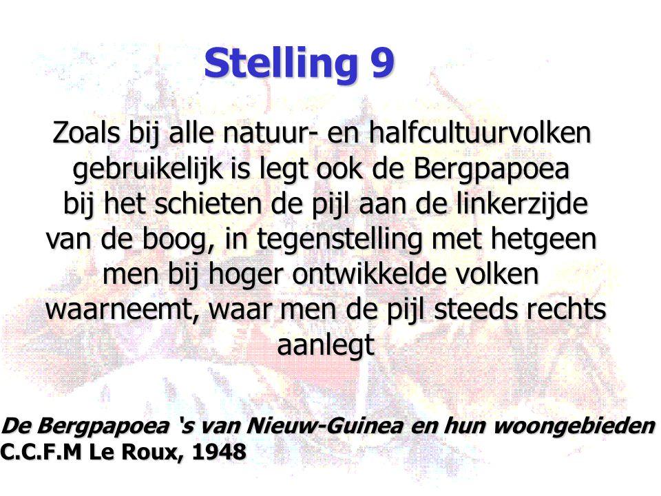 Stelling 9 Zoals bij alle natuur- en halfcultuurvolken