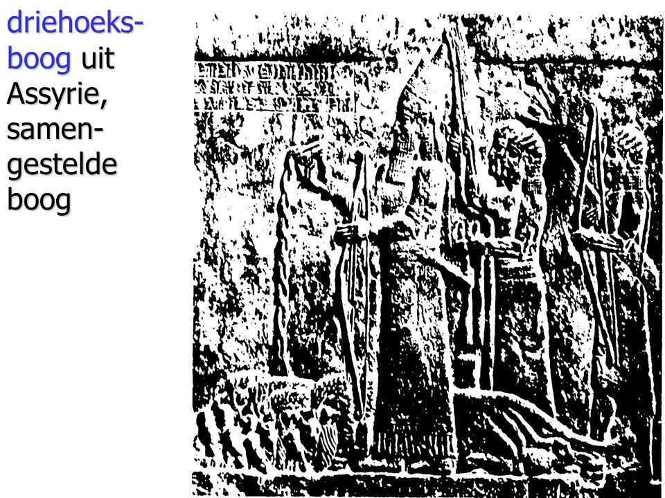 driehoeks- boog uit Assyrie, samen- gestelde boog