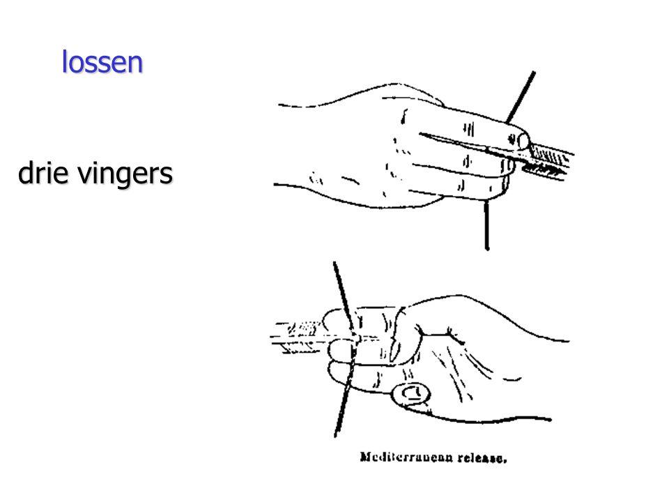 lossen drie vingers