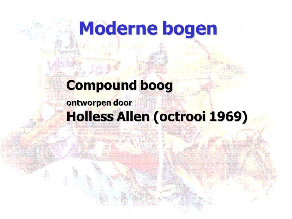 Moderne bogen Compound boog Holless Allen (octrooi 1969)