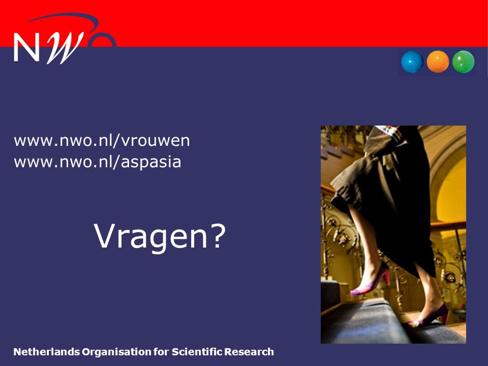 Vragen www.nwo.nl/vrouwen www.nwo.nl/aspasia