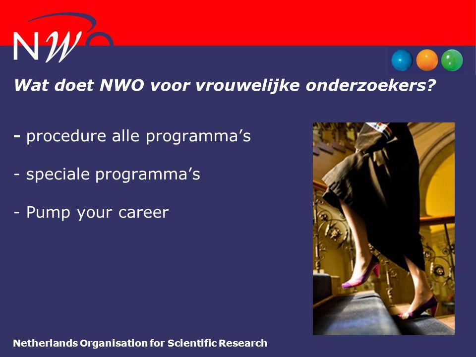 Wat doet NWO voor vrouwelijke onderzoekers