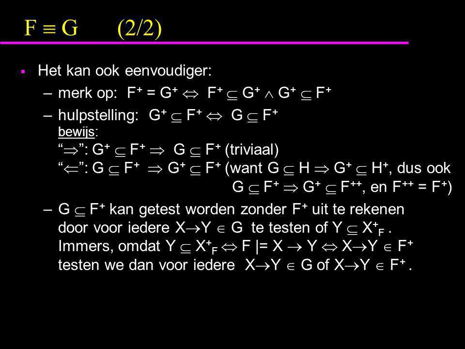F  G (2/2) Het kan ook eenvoudiger: