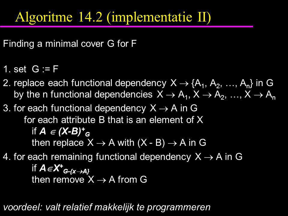 Algoritme 14.2 (implementatie II)