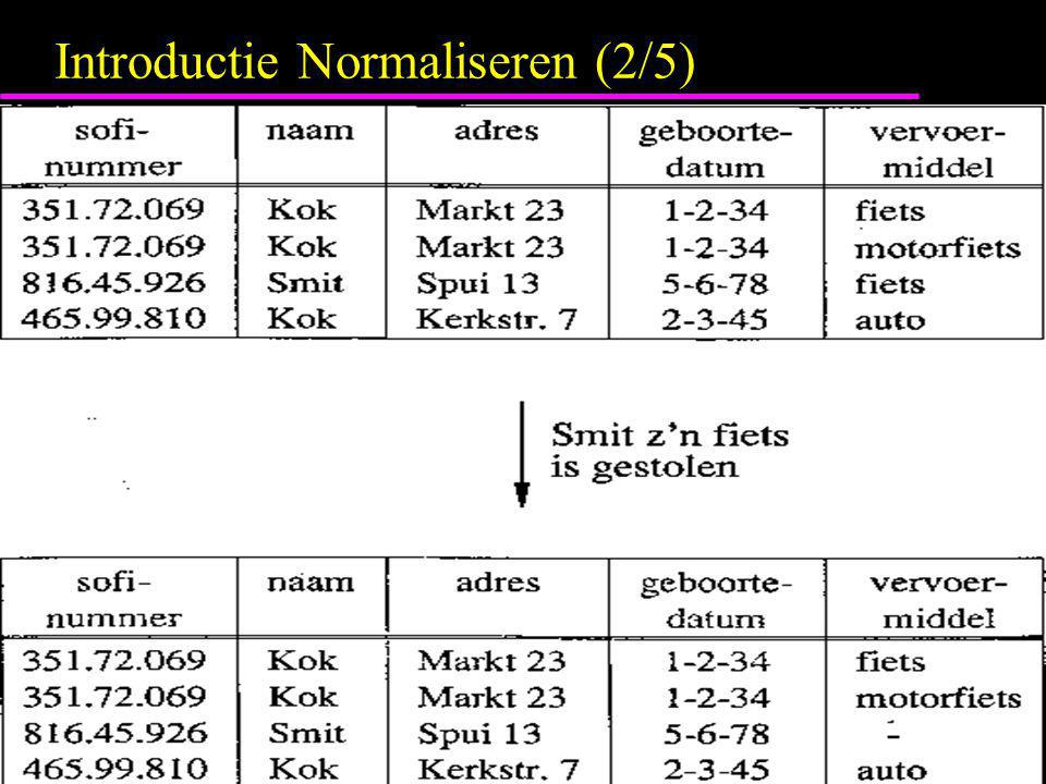 Introductie Normaliseren (2/5)